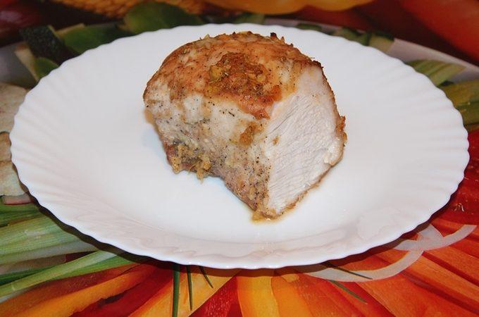 Медовая свинина с чесночком