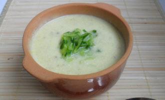 Крем-суп из огурца со сметаной